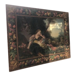 1933 French Figurative Scene Oil Painting, Framed For Sale