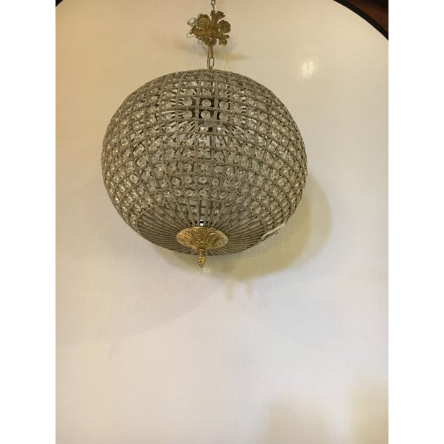Globe Pendant Chandeliers - A Pair For Sale - Image 7 of 10