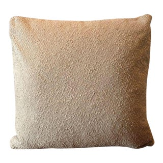 Italian Wool & Linen Boucle Pillow Cover For Sale