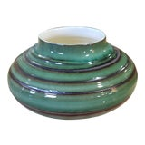 Image of Good Mid Century Royal Haeger Bulbous Formed Green & Brown Glazed Vase Vessel C1960s For Sale