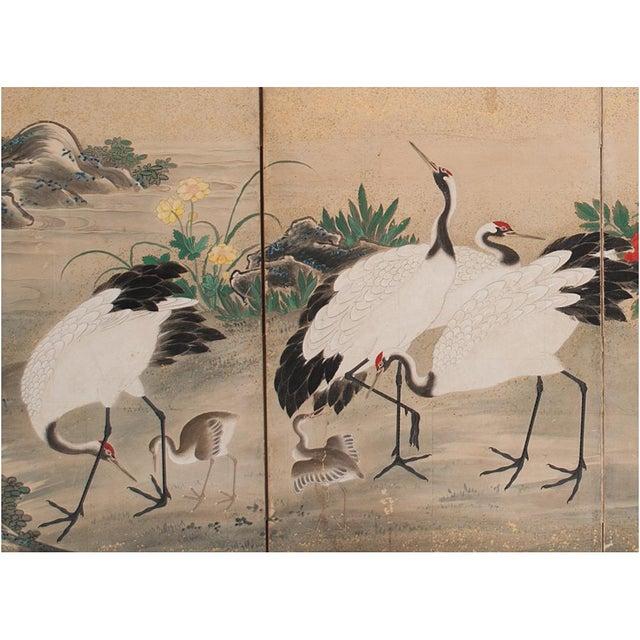 Early 19th Century Edo Era Monumental Japanese Six-Panel Byobu Screen For Sale - Image 5 of 13