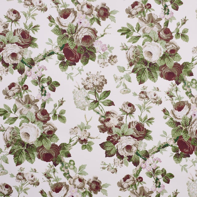 Schumacher X Vogue Living Nancy Wallpaper in Grisaille (11 Yards) For Sale