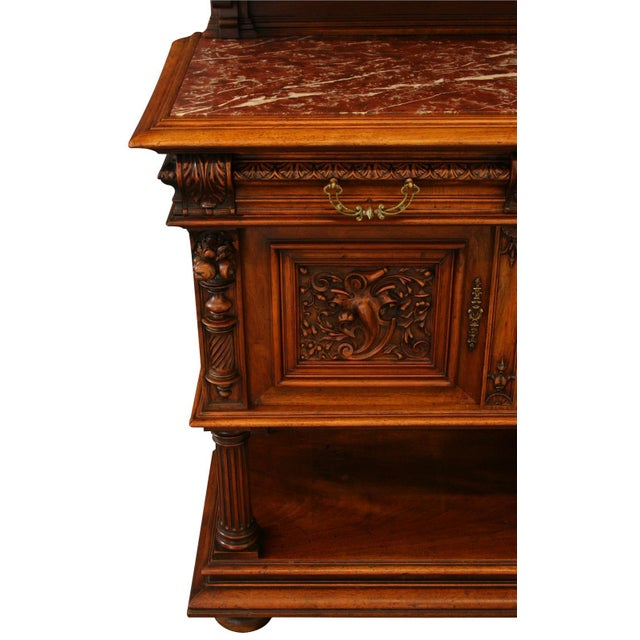Wood 1900 French Renaissance Sideboard Server For Sale - Image 7 of 12