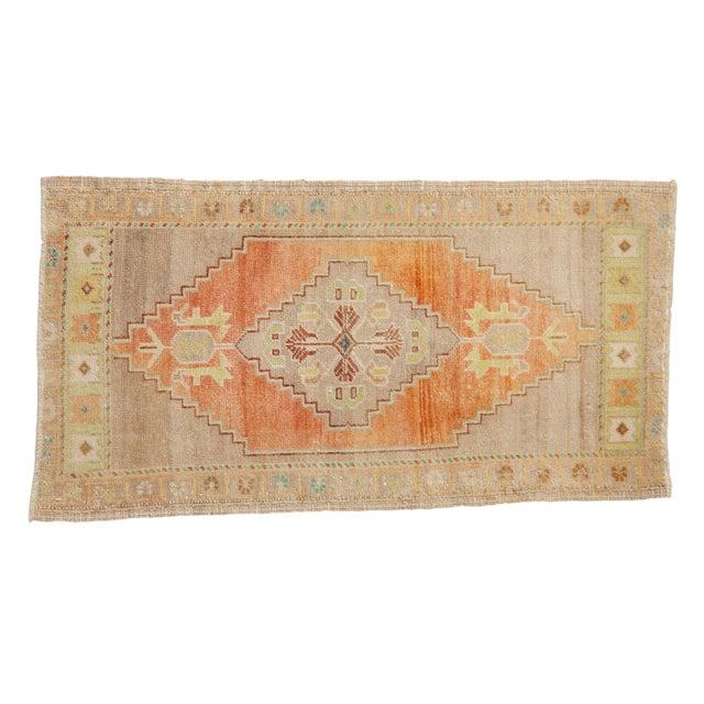 "Textile Vintage Distressed Oushak Rug - 1'10"" X 3'4"" For Sale - Image 7 of 7"