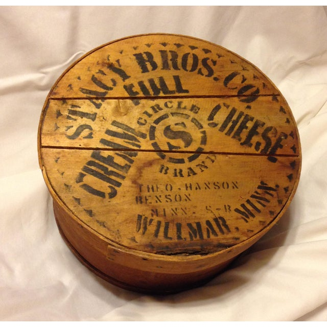 Almost Antique Deep Wood Cheese Box From the Stacy Bros. Co. - Image 2 of 5