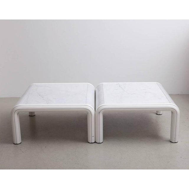 Gae Aulenti Rare Pair of Marble Coffee or Sofa Tables by Gae Aulenti for Knoll, Italy, 1970s For Sale - Image 4 of 7