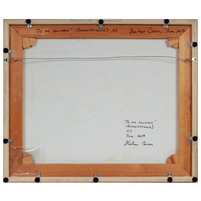 "Contemporary ""Je Me Souviens (Remembrance)"" 2019 Oil For Sale - Image 3 of 4"