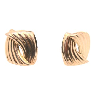 Sterling Silver Mid Century Mexican Earrings For Sale