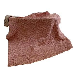 French Piquee Boutis Pink Quilt For Sale