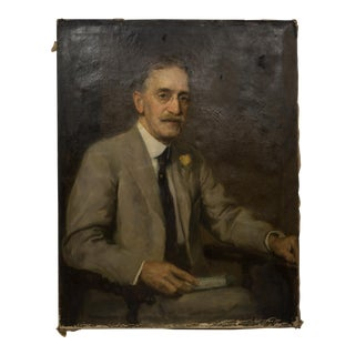 """Dr. Fowler"" Oil on Canvas Portrait by S.Seymour Thomas C.1900 For Sale"