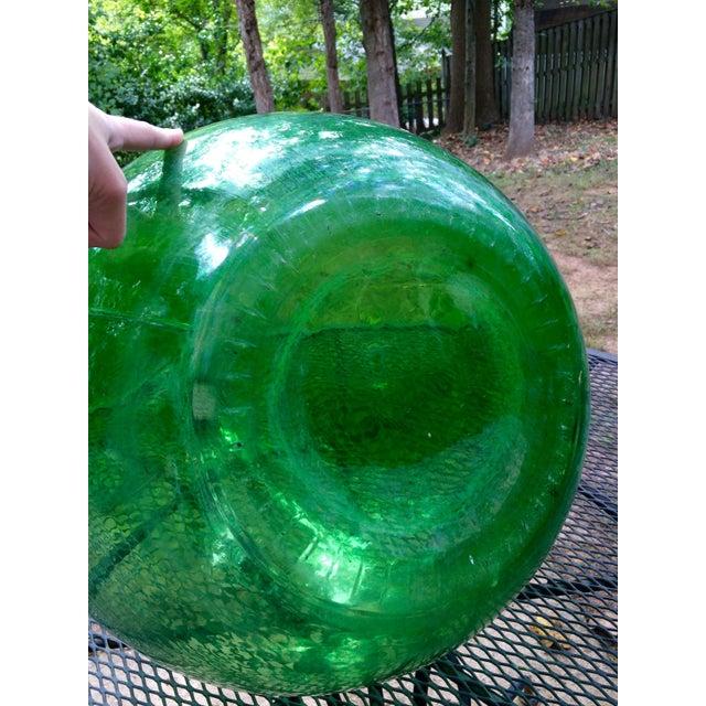 Vintage Italian Green Glass 54 Liter Demijohn - Image 6 of 7