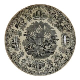 Hannibal & Elephants Antique Transferware Plate For Sale