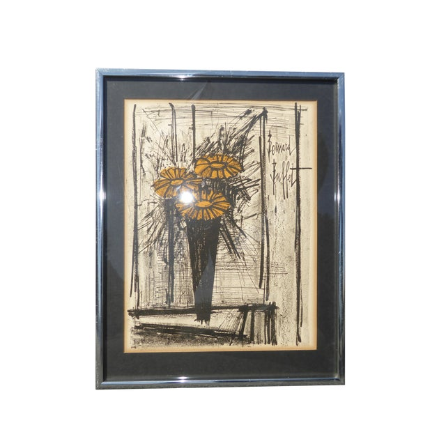 Vintage Mid Century Modern Style Lithograph by Famed Artist Bernard Buffet For Sale