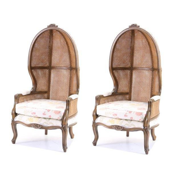 Vintage Mid Century Fully Cane Backed Porter Chairs - A Pair For Sale In New York - Image 6 of 13