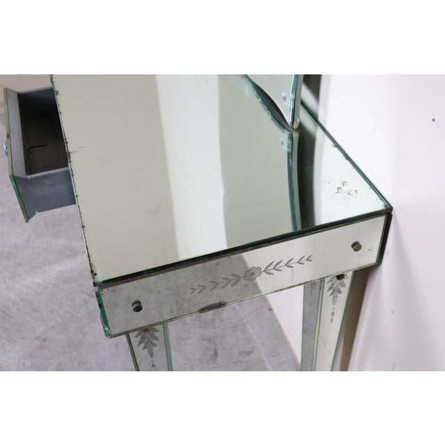 20th Century Italian Design in the Style of Fontana Arte Console Table, 1940s For Sale - Image 10 of 11