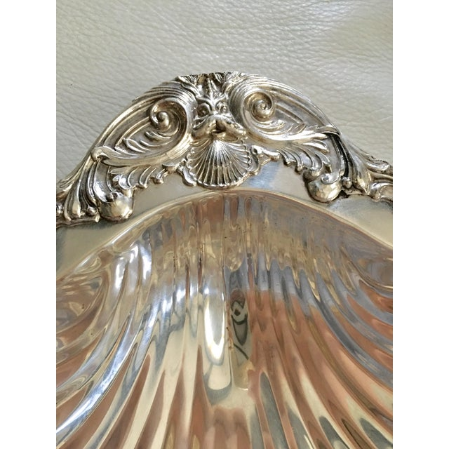 Nautical f.b. Rogers Silver Shell Bowl For Sale - Image 3 of 5