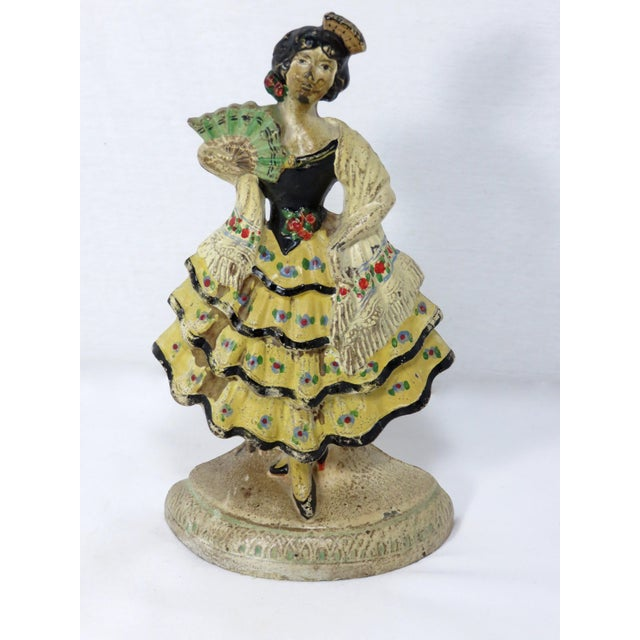 1920s Spanish Cast Iron Dancer Doorstop For Sale - Image 13 of 13