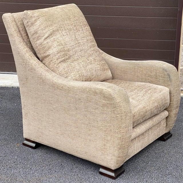 Tan RJones Lounge Chair & Ottoman For Sale - Image 8 of 13