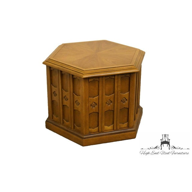 "DREXEL Esperanto Collection Hexagonal Storage End Table 481-314 21"" High 26"" Wide 30"" Deep We specialize in High End Used..."