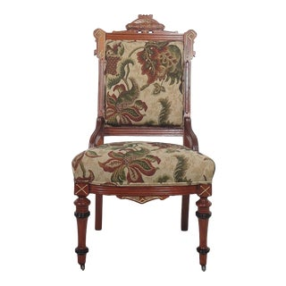 Eastern Influenced Victorian Side Chair For Sale