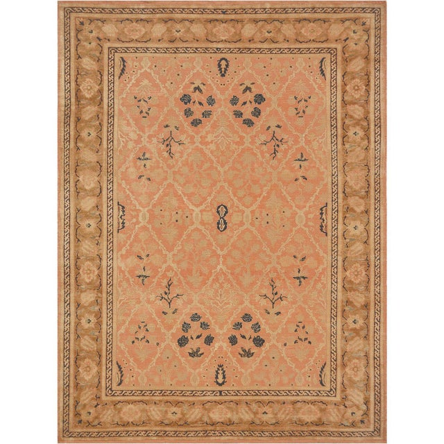 Persian Mansour Handwoven Agra Rug For Sale - Image 3 of 4