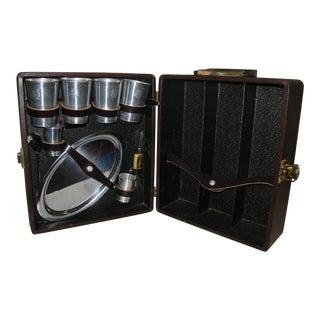 Portable Travel Bar Suitcase Retro Bar Ware For Sale