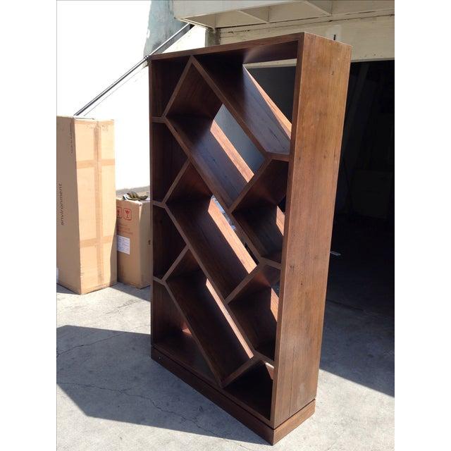 Diagonally Slanted Standing Bookshelf - Image 2 of 5
