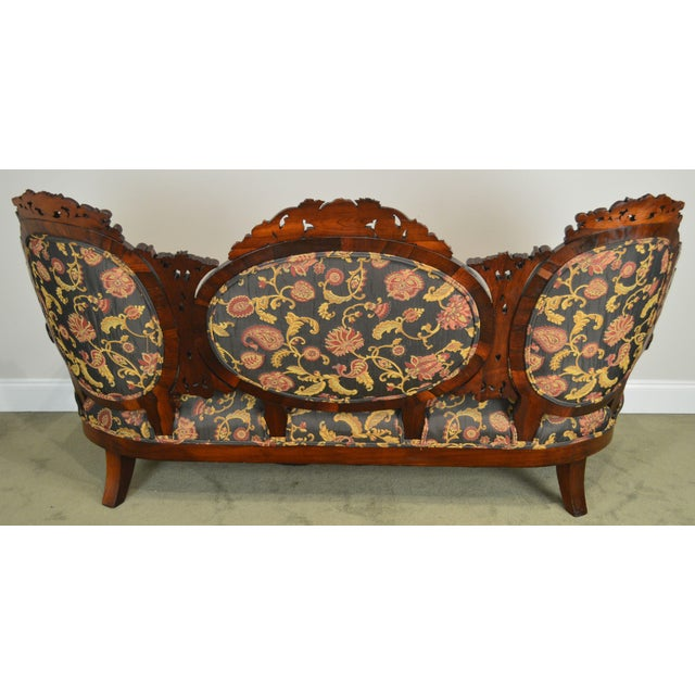 Mid 19th Century Rococo Revival Fine Carved Rosewood Sofa For Sale - Image 5 of 13