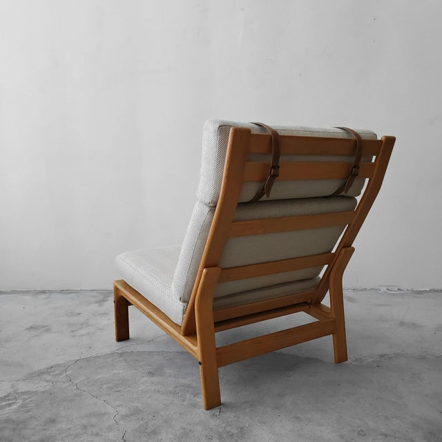 Danish Modern Mid Century Danish Oak Lounge Chair by Komfort Design For Sale - Image 3 of 9