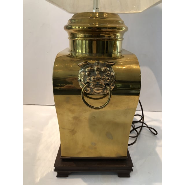 Vintage 1980s Etched Brass Lamps With Shades - a Pair For Sale - Image 11 of 13