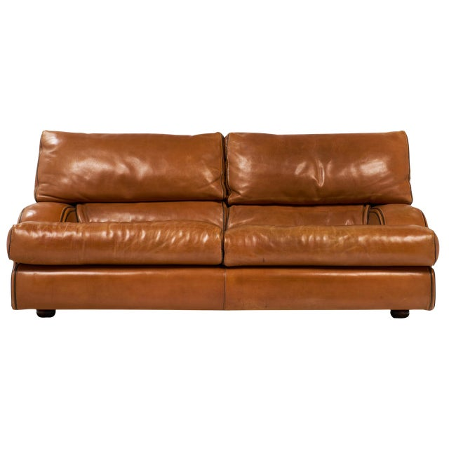 Pleasing Vintage Baxter Italian Leather Sofa Gmtry Best Dining Table And Chair Ideas Images Gmtryco
