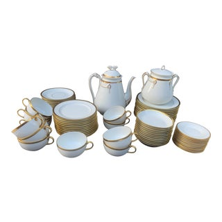 Late 19th Century Limoges China Luncheon Set - Set of 69 For Sale