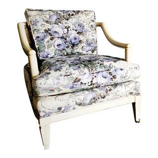 Vintage Violet Floral Club Lounge Chair - Pair