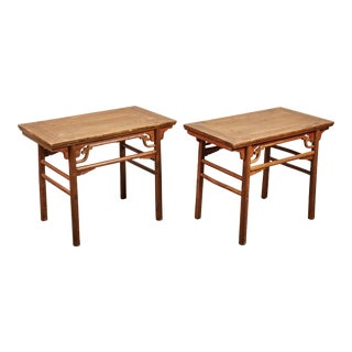 Pair of Late 19th C. Chinese Side Tables For Sale