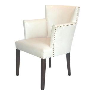 Modern White Balboa Barrel Chair For Sale