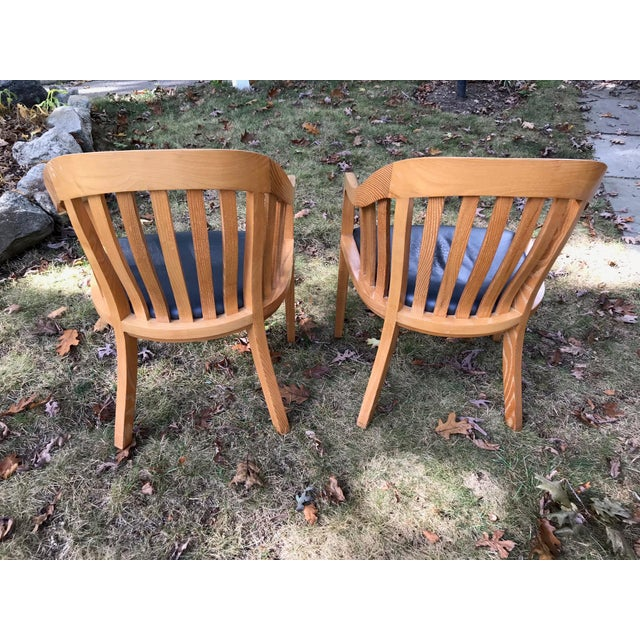 Ward Bennett for Brickel Associates Rare Library Chairs - A Pair For Sale - Image 5 of 11