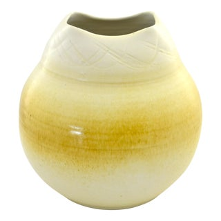 Yellow Ombre Studio Pottery Urn