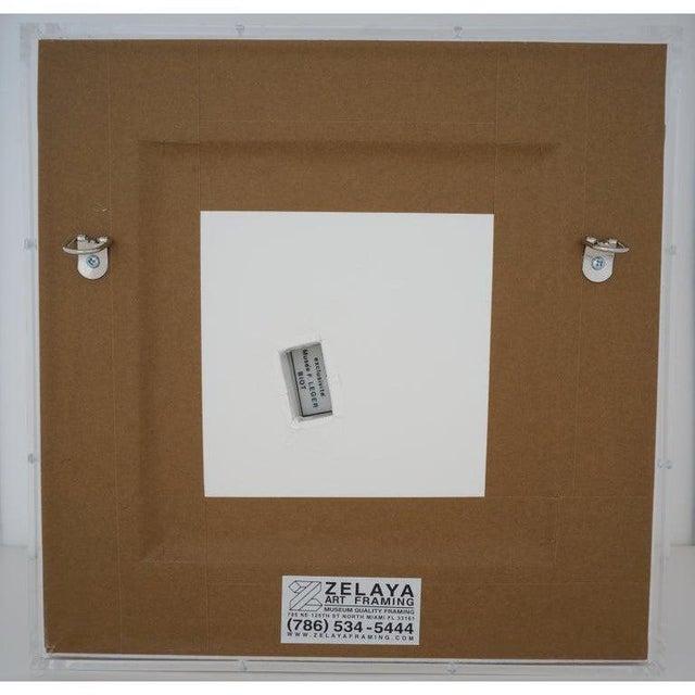 Ceramic Vintage Framed Fernand Leger Porcelain Plates - a Set of 4 Different in Lucite Shadowbox Frames For Sale - Image 7 of 13