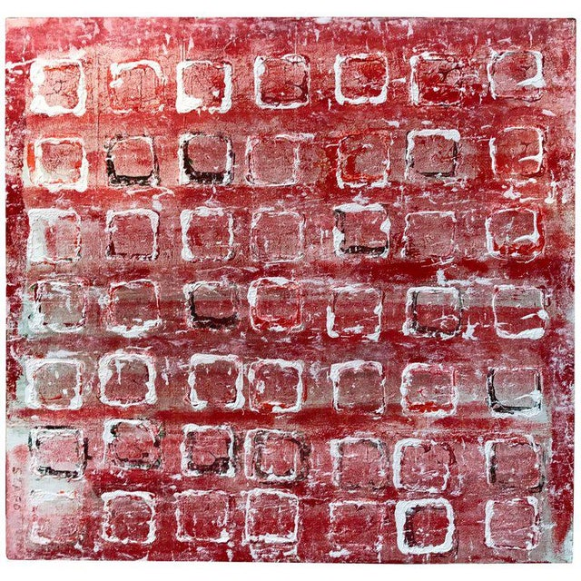 """Paint John Szabo """"Squares Iii"""" Acrylic Painting on Panel For Sale - Image 7 of 7"""