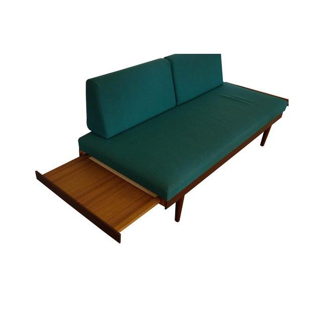 Mid-Century Modern Norwegian Modern Teak Daybed Sofa Pull Out Tables Edvard Kindt Larsen for Gustav Bahus For Sale - Image 3 of 10