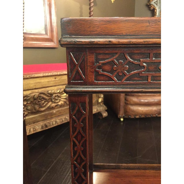 Chippendale 1820s Carved Mahogany Chippendale Style Side Table For Sale - Image 3 of 8