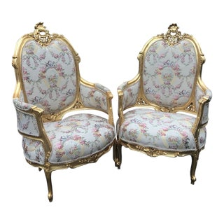 French Louis XVI Style Chairs- a Pair For Sale
