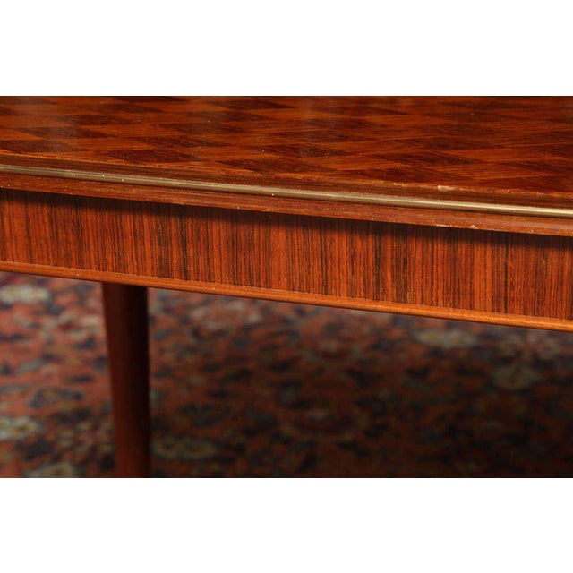 Brown Jules Leleu Rectangular Coffee Table For Sale - Image 8 of 9