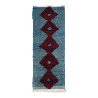 "Vintage Turkish Ceki Tulu Tribal Shag Rug / Wall Hanging Tapestry - 2' X 4'10"" For Sale"