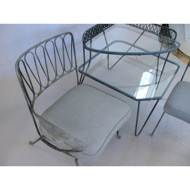Pair of Italian 1950s Lounge Chairs and Table by Salterini For Sale In New York - Image 6 of 9