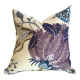 Image of Schumacher Indian Arbre Pillow Cover 16x16 Hyacinth For Sale