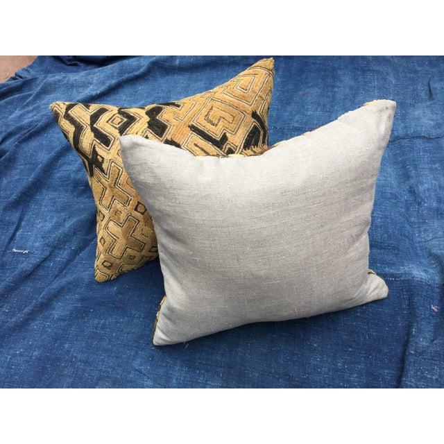 African Kuba Cloth Pillows - A Pair - Image 7 of 7
