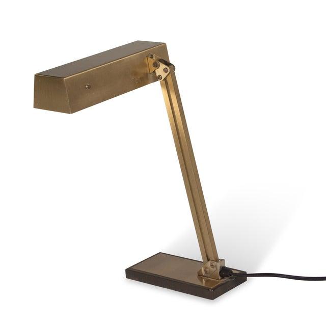 Vintage German 1960s Bronze Pivoting Desk Lamp - Image 10 of 10