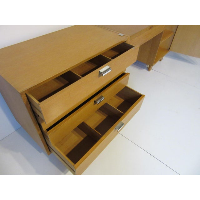 1950s George Nelson for Herman Miller Oak 3 Pc. Vanity Chest Set For Sale - Image 5 of 13