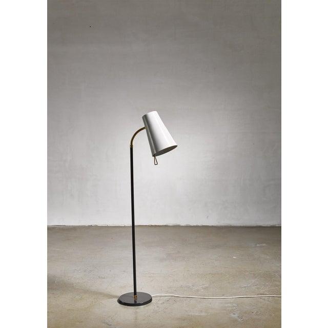Mid-Century Modern Yki Nummi Floor Lamp for Orno, Finland For Sale - Image 3 of 8